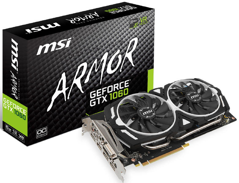 MSI - a lot of variety GeForce GTX 1060