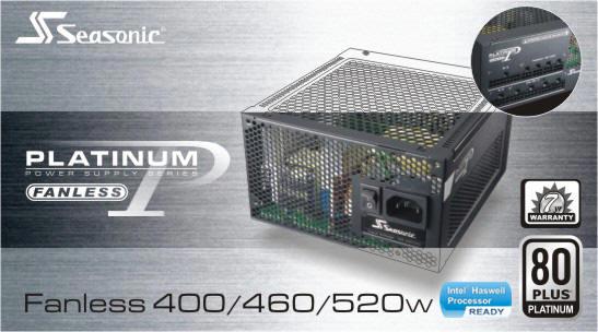 Seasonic Platinum 520FL Fanless (SS-520FL2 F3)